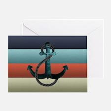 Nautical Anchor Flag Greeting Card