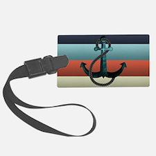 Nautical Anchor Flag Luggage Tag