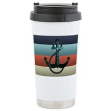 Nautical Anchor Flag Travel Mug