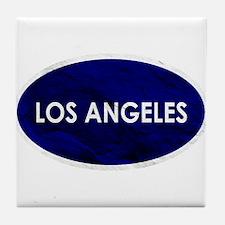 Los Angeles Blue Stone Tile Coaster