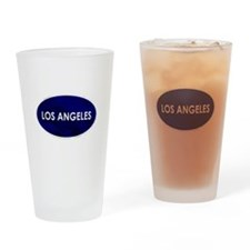 Los Angeles Blue Stone Drinking Glass