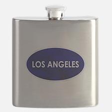 Los Angeles Blue Stone Flask