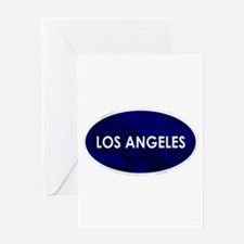 Los Angeles Blue Stone Greeting Cards