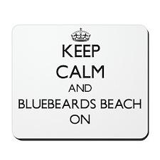 Keep calm and Bluebeards Beach Virgin Is Mousepad
