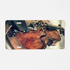 classic vintage violin Aluminum License Plate
