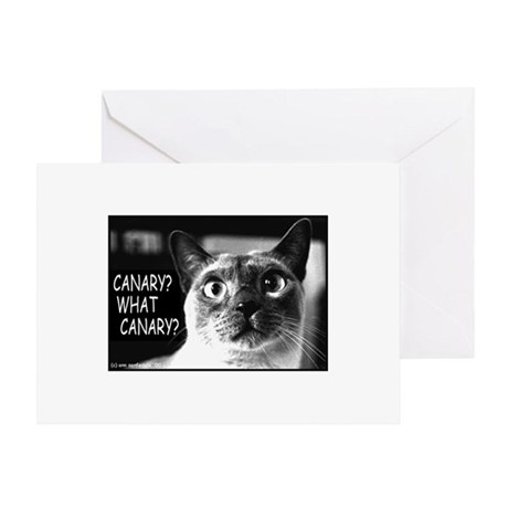 "Cat says ""What Canary?"" Greeting Card"