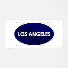 Los Angeles Blue Stone Aluminum License Plate