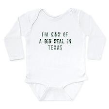 Texas cities Long Sleeve Infant Bodysuit