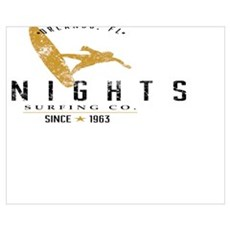 UCF Knights Surfing Company Gold & Black Poster