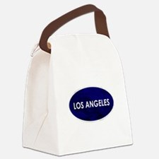 Los Angeles Blue Stone Canvas Lunch Bag