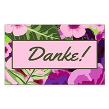 Danke Tropical Flowers Tip Jar Decal