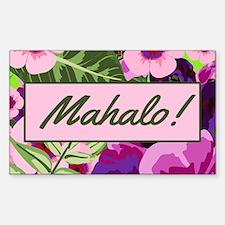 Mahalo Tropical Flowers Tip Jar Decal