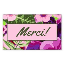 Merci Tropical Flowers Tip Jar Decal