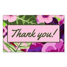 Thank You Tropical Flowers Tipjar Bumper Stickers