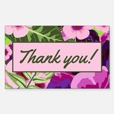 Thank You Tropical Flowers Tipjar Decal