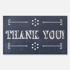 Chalkboard Style Thank You Tipjar Decal