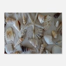 Beautiful Seashells 5'x7'Area Rug