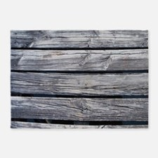 rustic country barn wood 5'x7'Area Rug