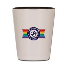 Freedom to Love Male Shot Glass