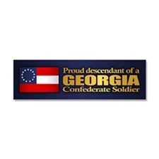 Georgia Proud Descendant Car Magnet 10 x 3