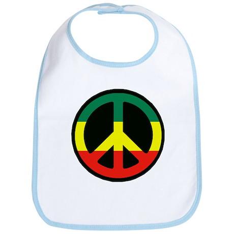 PEACE SIGN REGGAE Bib