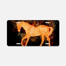 Fantasy Fiery Horse Aluminum License Plate