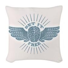 Freethinker Woven Throw Pillow