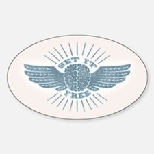 Freethinker Sticker (Oval)
