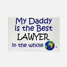 Best Lawyer In The World (Daddy) Rectangle Magnet