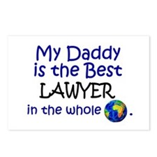 Best Lawyer In The World (Daddy) Postcards (Packag