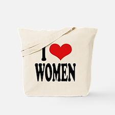 I Love Women Tote Bag