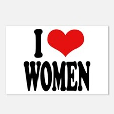 I Love Women Postcards (Package of 8)