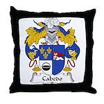 Cabedo Family Crest Throw Pillow