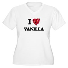 I love Vanilla Plus Size T-Shirt