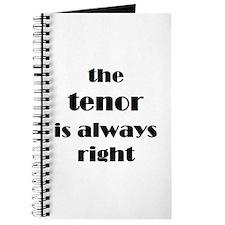 tenor right Journal