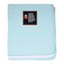 2nd Amendment Quote- Thomas Jefferson baby blanket