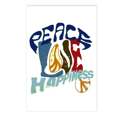 Peace Love and Happiness #P2 Postcards (Package of