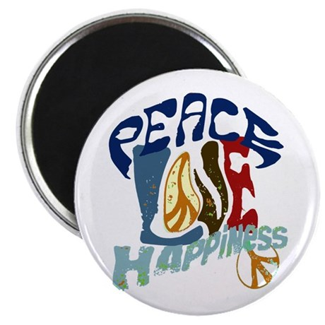 Peace Love and Happiness #P2 Magnet