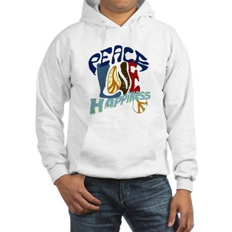 Peace Love and Happiness #P2 Hooded Sweatshirt