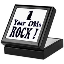 1 Year Olds Rock ! Keepsake Box