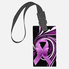 Pink Awareness Ribbon Luggage Tag
