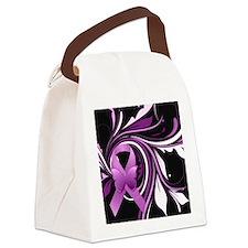 Pink Awareness Ribbon Canvas Lunch Bag