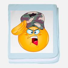 army emoji baby blanket