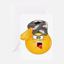 army emoji Greeting Cards
