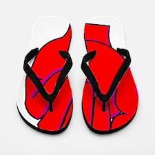 red fist Flip Flops