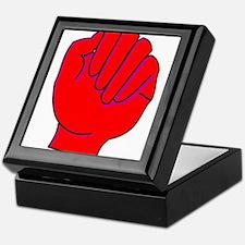 red fist Keepsake Box
