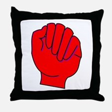 red fist Throw Pillow