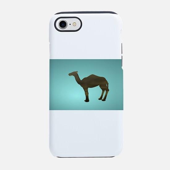 Blue Camel Cut Out iPhone 8/7 Tough Case