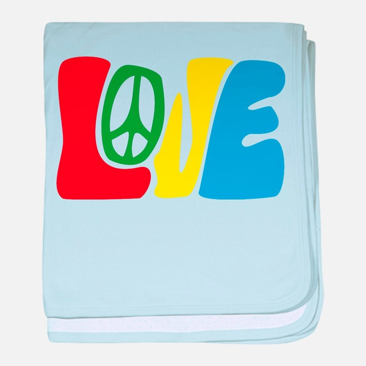 lovePeace baby blanket