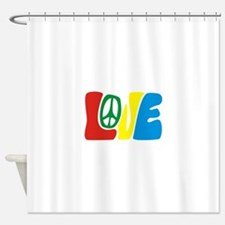 lovePeace Shower Curtain